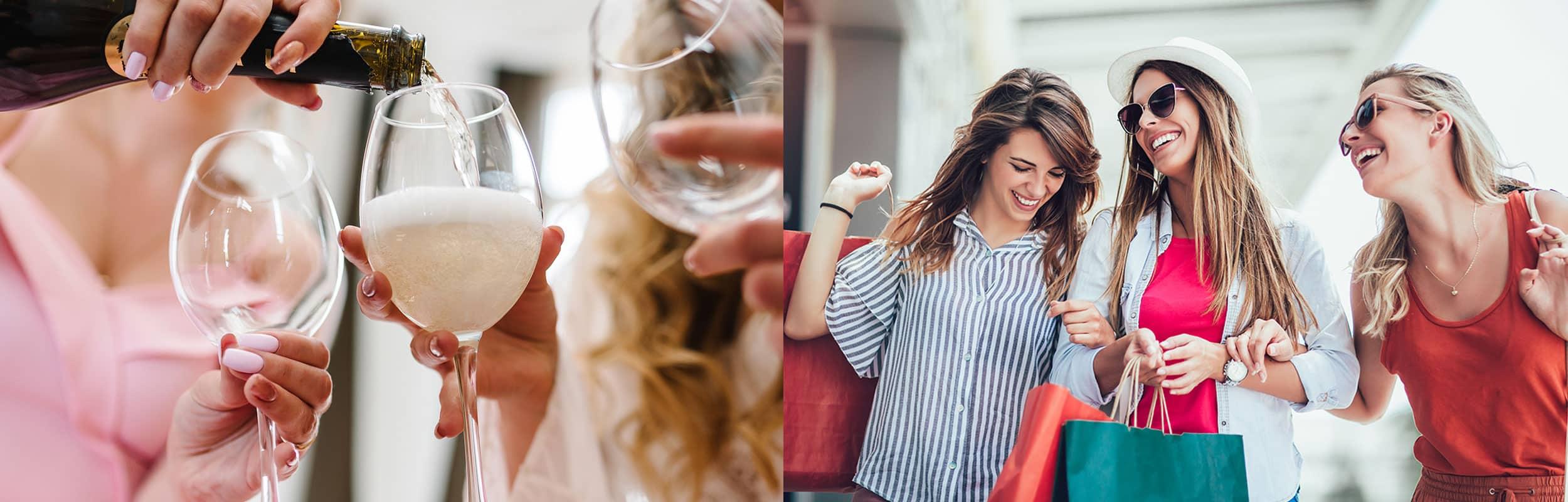 vin og shopping